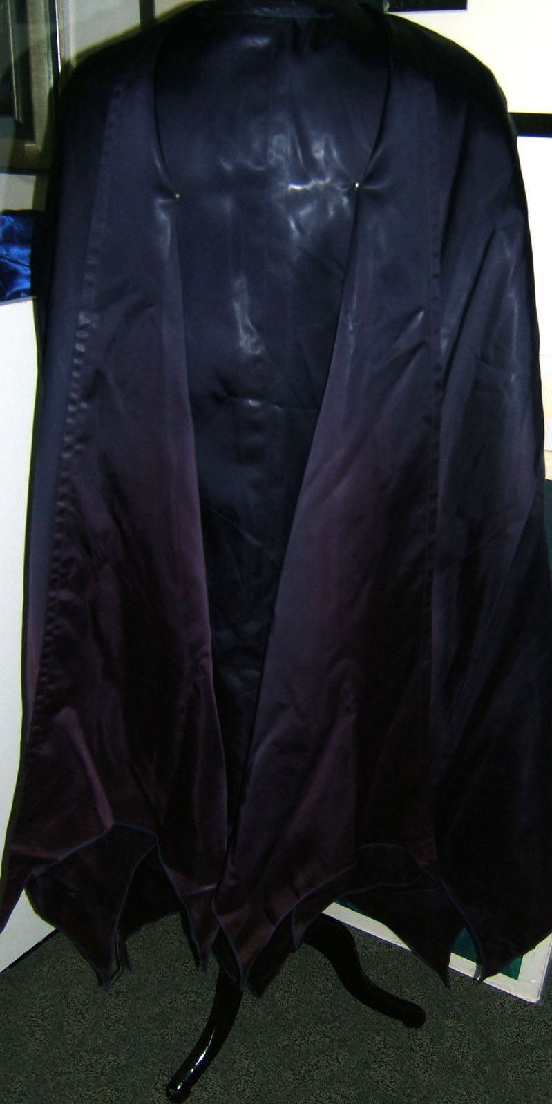 Back of cape with front snaps attached.